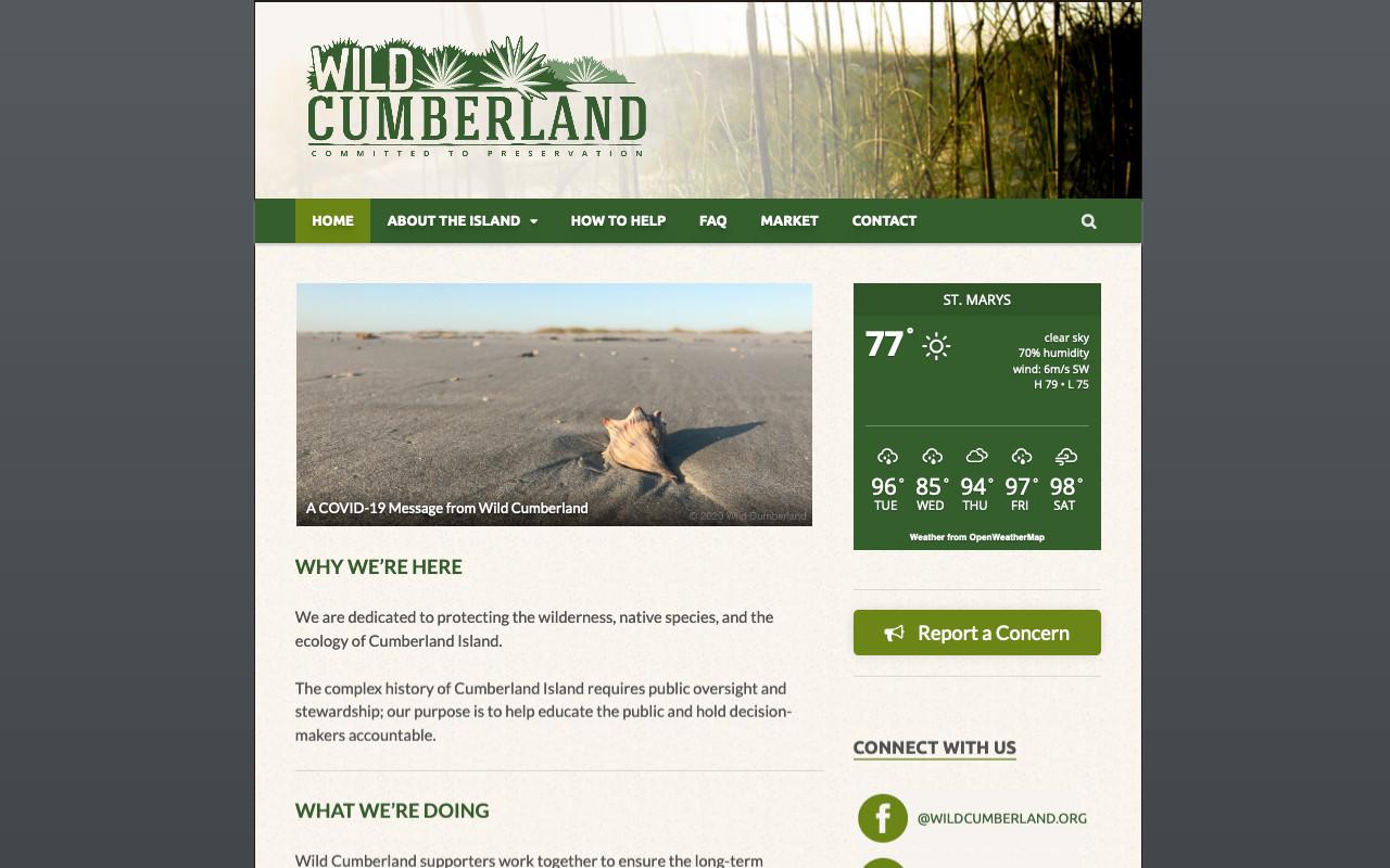 Wild Cumberland | Nonprofit Redesign